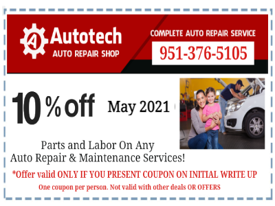 Auto Repair Coupon Autotech Riverside CA